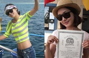 Sung Yuri tự tin khoe eo thon và mặt mộc