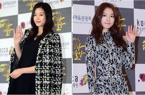 Jeon Ji Hyun vác bụng bầu to lên thảm đỏ,