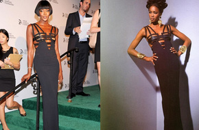 Siêu mẫu Naomi Campbell mặc lại váy cách đây... 2 thập kỷ đi dự tiệc