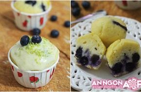 Chua ngọt hấp dẫn: bánh cupcake quả việt quất