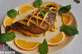 Món ngon cuối tuần: Đùi vịt xốt cam