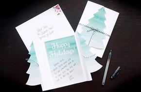 Cách làm thiệp Noel kiêm phong thư tuyệt đẹp