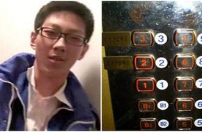 Kẹt thang máy 5 tiếng đồng hồ không biết làm gì, thanh niên cứng lôi bài tập ra làm