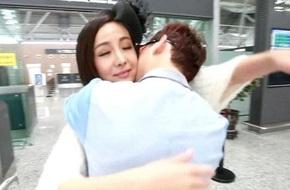 Can Lộ Lộ  công khai ôm hôn trai lạ tại sân bay