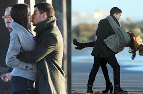 Hoa hậu Hoàn vũ và bạn trai hôn nhau đắm đuối