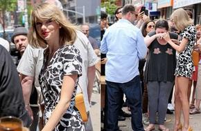 Fan khóc nức nở vì gặp Taylor Swift trên đường phố