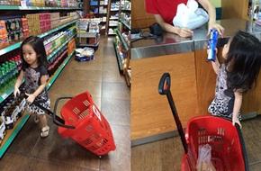 Con gái Lưu Hương Giang tự đi mua sắm như người lớn