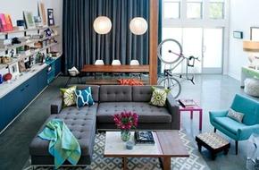 Khám phá căn hộ được bài trí tuyệt đẹp với gam màu xanh lam
