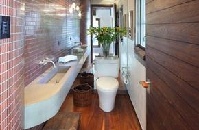 4 lưu ý bài trí  giúp phòng tắm hẹp ấn tượng hơn