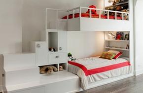 Phòng ngủ của bé siêu xinh với thiết kế giường tầng