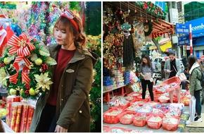 Thiếu nữ Hà thành nô nức đi mua sắm đồ Giáng sinh trên phố cổ