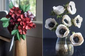 Trang trí nhà đẹp với 2 cách làm hoa giấy đơn giản xinh yêu