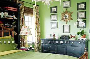 """Cách phối màu xanh lá cây thật """"hot"""" khi trang trí nhà"""