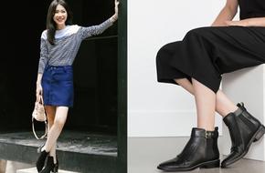4 cách kết hợp thời thượng với ankle boots - đôi giày tâm điểm của mùa lạnh