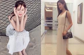 """Thu Thảo, Huyền My """"đọ dáng"""" với váy maxi trắng"""