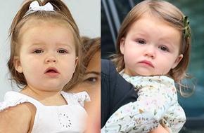 Chọn phụ kiện cài tóc cho bé đáng yêu như cô nhóc Harper Beckham