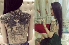 Cô gái Phú Thọ vướng nhiều thị phi bởi hình xăm song phượng