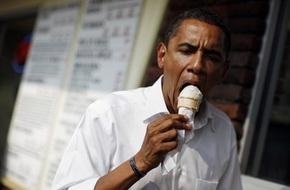 Chùm ảnh hài hước về thói quen ăn uống bình dân của Tổng thống Obama ở bên ngoài
