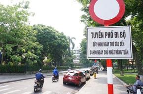 Hà Nội bắt đầu chạy thử nghiệm tuyến phố đi bộ quanh khu vực Hồ Gươm