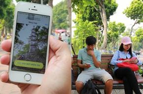 Người dân Hà Nội hào hứng sử dụng wifi miễn phí quanh khu vực bờ hồ