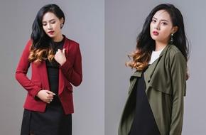 Lựa chọn áo khoác ăn ý giúp làm mới chiếc váy liền đen