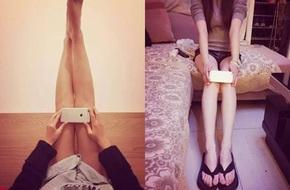 Sau eo A4, lại rộ mốt đo chân bằng iPhone 6 khiến chị em đứng ngồi không yên