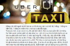 """Dân mạng tranh cãi về hành xử của các """"thượng đế"""" sau vụ Uber"""