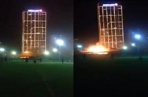 Hà Nội: Xôn xao vụ chập cháy gây ra ánh sáng lạ tại tòa nhà Viglacera trên đường Khuất Duy Tiến