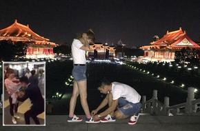 Hé lộ chuyện tình của cặp đôi Việt sau màn cầu hôn xôn xao ngay tại sân bay