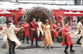 """Màn rước dâu khiến MXH """"nóng ran"""" vì vui nhộn như clip ca nhạc của cặp đôi mê nhảy"""