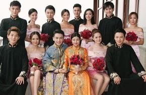 Trần Nghiên Hy và Trần Hiểu nổi bật bên dàn phù rể phù dâu trai xinh gái đẹp