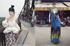 Từ Hy Đệ chụp ảnh tại cầu Long Biên và phố cổ Hà Nội