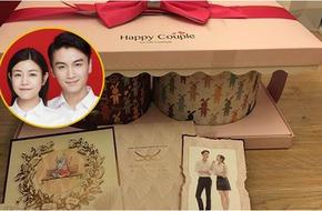 Hé lộ thiệp mời và bánh cưới đáng yêu của Trần Nghiên Hy