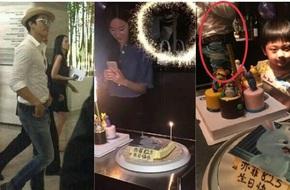 Hình ảnh hiếm hoi của Song Seung Hun trong tiệc sinh nhật Lưu Diệc Phi