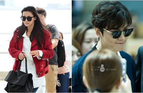 Lee Min Ho, Jeon Ji Hyun khiến sân bay