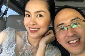 Hình ảnh hạnh phúc của vợ chồng Tăng Thanh Hà tròn 4 năm ngày cưới