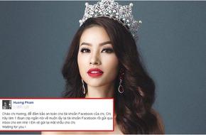 Phạm Hương khổ sở vì trang cá nhân liên tục bị hacker tấn công