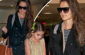 Hai mẹ con bé Suri Cruise trở về nhà sau kỳ nghỉ lễ