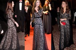 Kate Middleton mặc lại 1 chiếc váy dự tiệc tới... 3 lần