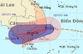 Bão 15 suy yếu nhanh thành áp thấp đổ bộ vào Nam Trung bộ