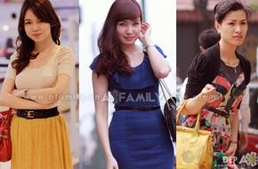 Gam màu cam, vàng ngập tràn street style Hà Thành