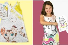 Bà mẹ thiết kế những chiếc váy 'độc nhất vô nhị' từ nét vẽ nguệch ngoạc của con