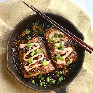 Cá hồi xốt teriyaki đã ăn là mê