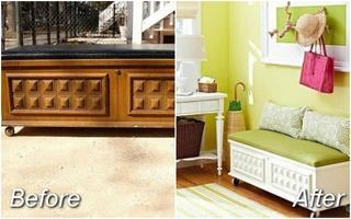 14 ý tưởng hô biến nội thất cũ thành những món đồ mới long lanh