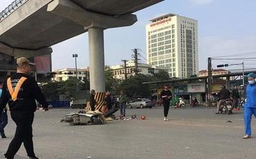 Hà Nội: Đau xót hai ông cháu bị cuốn vào gầm xe tải tử vong tại chỗ