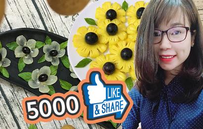 Thật bất ngờ: Cô nàng tỉa nhãn thành hoa hút 5000 like chỉ sau vài giờ đăng tải
