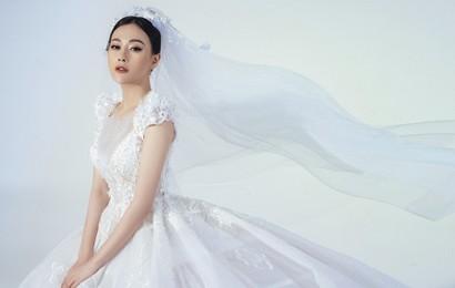 'Hồ ly' Phương Oanh của 'Nàng dâu order' diện váy cưới, úp mở chuyện lấy chồng