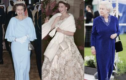 Những bộ váy áo lộng lẫy đi vào lịch sử của Nữ hoàng Anh trước khi bà theo đuổi phong cách sặc sỡ sắc màu
