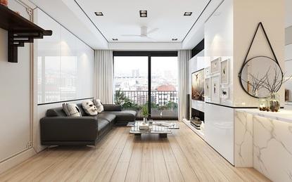 Tư vấn bố trí nội thất cho căn hộ 64m² từ vô số những nhược điểm thành không gian sống đáng mơ ước