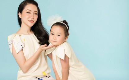 Con gái Linh Nga xinh hơn cả mẹ khi cùng diện đầm đôi giống nhau